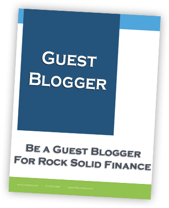 Be a gust blogger for Rock Solid Finance.  Get exposure and provide value for clients